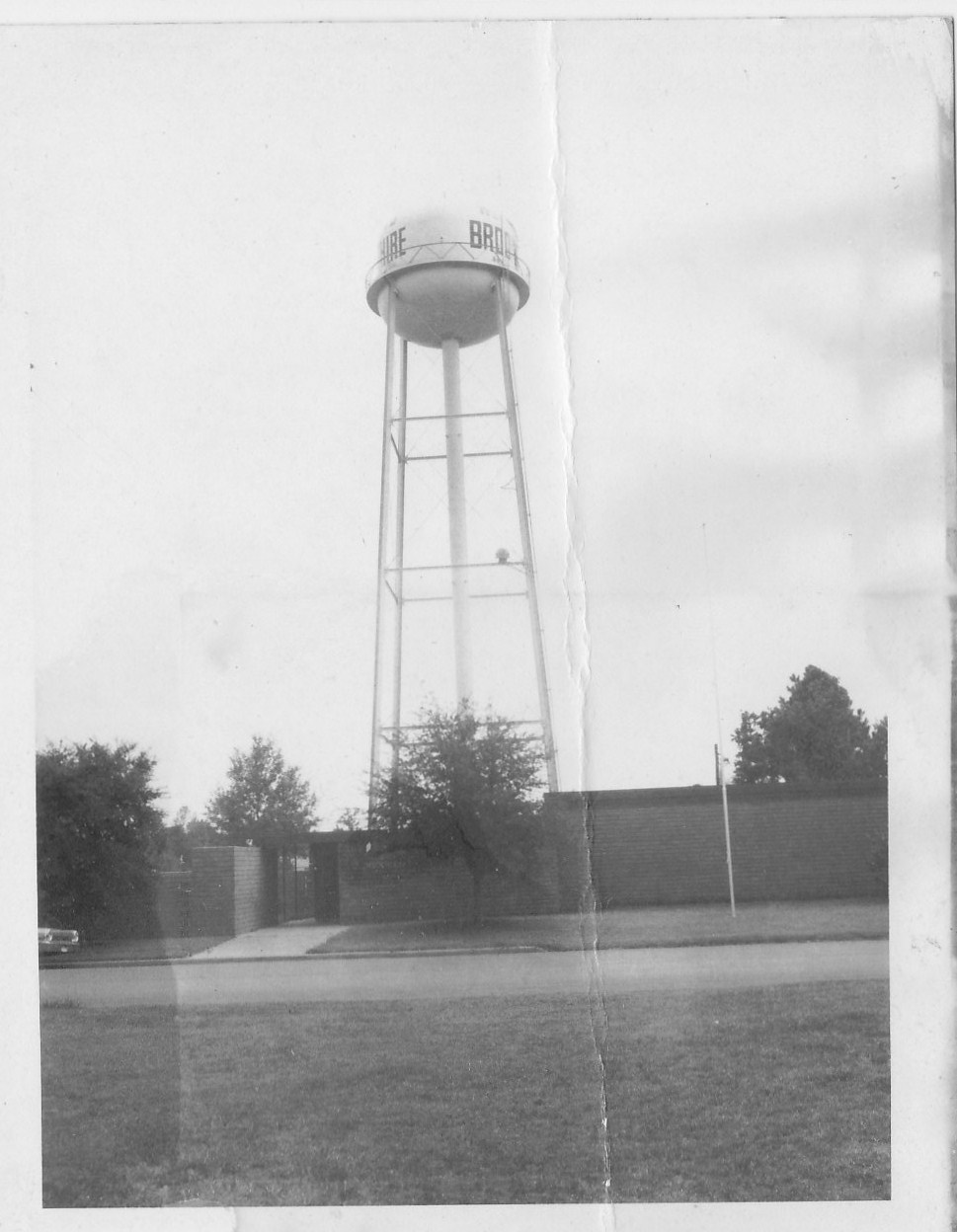 Brookshire Water Tower late 1950
