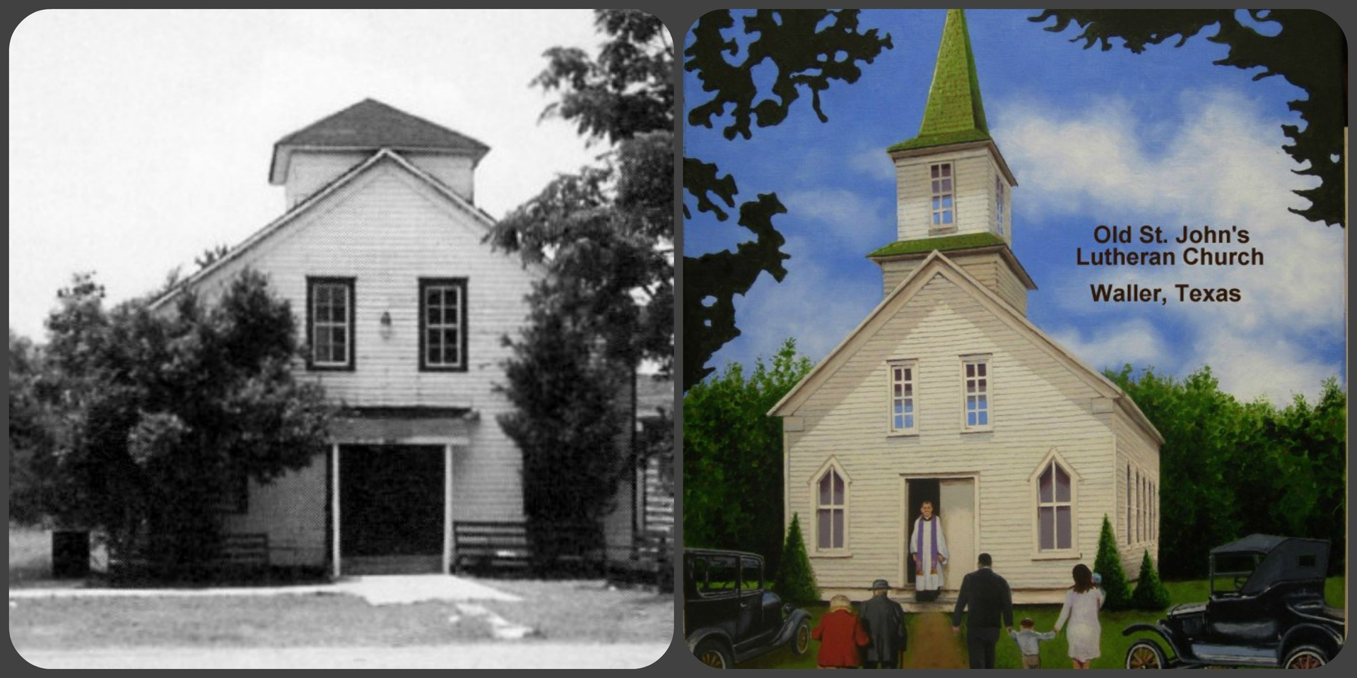 St. John's Lutheran Church in Waller 1995 & 1920s