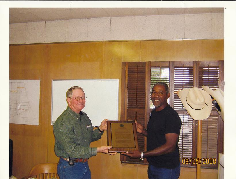 Ramond Dollins and Fred Branch at the Drainage District