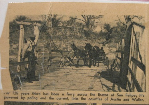 Ferry crossing on the Brazos at San Felipe