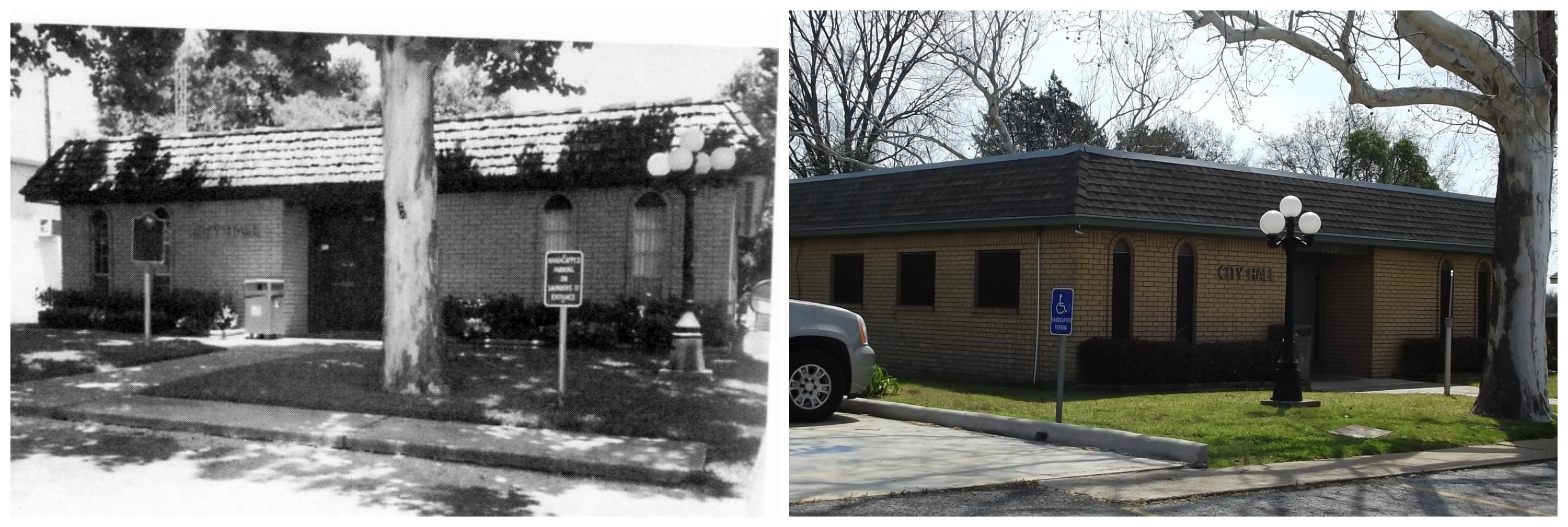 Waller City Hall 1995 & 2014
